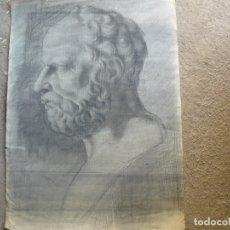Arte: CARBONCILLO - ANÓNIMO - BUSTO MASCULINO AÑOS 30/40. Lote 173381424