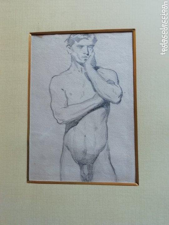 DIBUJO ACADEMIA DE JOSÉ PEDRAZA OSTOS SIN ENMARCAR (Arte - Dibujos - Modernos siglo XIX)