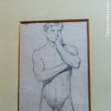 Arte: DIBUJO ACADEMIA DE JOSÉ PEDRAZA OSTOS SIN ENMARCAR. Lote 173555834