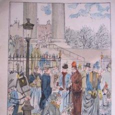 Arte: AUGUSTE FRANÇOIS-MARIE GORGUET (PARIS, 1862 -1927). ACUARELA Y TINTA. 25 X 17,5 CM. FIRMADA. Lote 173824440