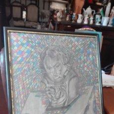 Arte: BUSTO DE GOYA REALIZADO A CERAS FIRMADO NINES. Lote 173860039