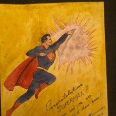 Arte: SUPERMAN - DIBUJÓ A MANO - JOE SCHUSTER. Lote 173883235