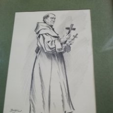 Arte: DIBUJO DE 23 POR 17 CM...ATRIBUIDO FAMOSO CARICATURISTA ANTONIO IBAÑEZ... DE MORTADELO Y FILEMON. Lote 173929774