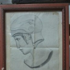 Arte: ANTIGUO DIBUJO PINTOR DE ALICANTE MACIA FIRMADO. Lote 173972035