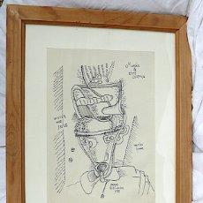 Arte: CEESEPE DIBUJO ORIGINAL FIRMADO Y FECHADO. Lote 174069619