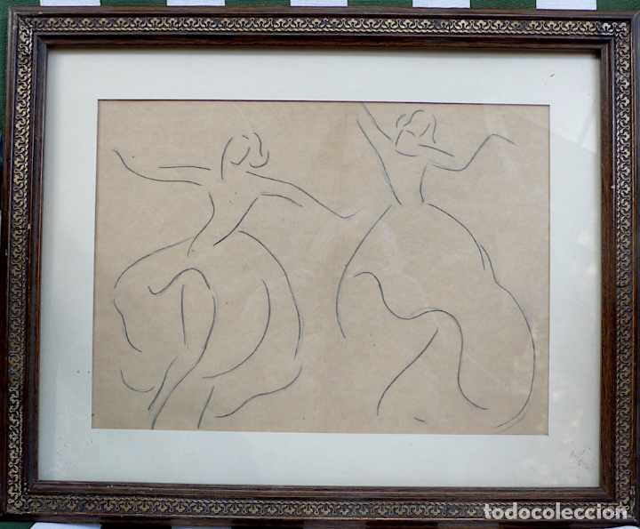 DIBUJO A LAPICERO BAILE (Arte - Dibujos - Contemporáneos siglo XX)