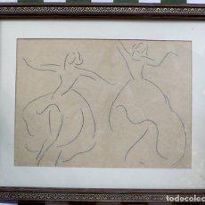 Arte: DIBUJO A LAPICERO BAILE. Lote 174071313