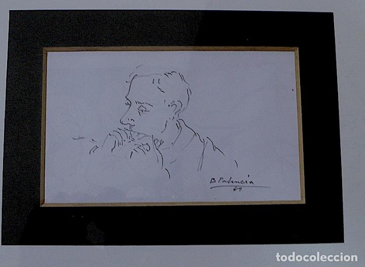 ¿B.PALENCIA? DIBUJO ORIGINAL A LAPICERO FIRMADO (Arte - Dibujos - Contemporáneos siglo XX)