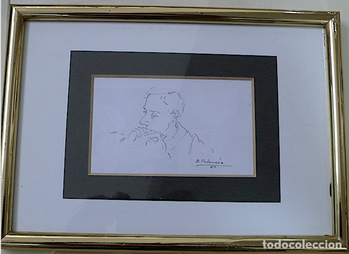 Arte: ¿B.PALENCIA? DIBUJO ORIGINAL A LAPICERO FIRMADO - Foto 2 - 174075270