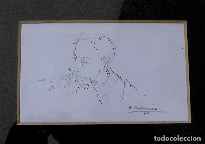 Arte: ¿B.PALENCIA? DIBUJO ORIGINAL A LAPICERO FIRMADO - Foto 3 - 174075270