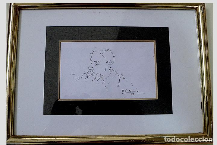 Arte: ¿B.PALENCIA? DIBUJO ORIGINAL A LAPICERO FIRMADO - Foto 4 - 174075270