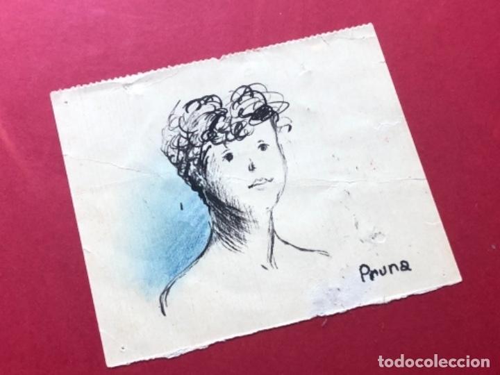 Arte: DIBUJO A TINTA, RETRATO, FIRMADO PRUNA - Foto 3 - 174186847