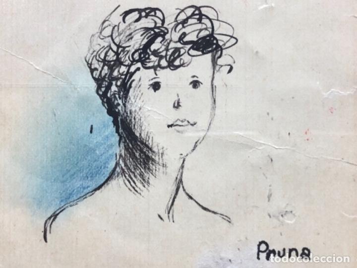 Arte: DIBUJO A TINTA, RETRATO, FIRMADO PRUNA - Foto 4 - 174186847