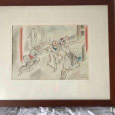 Arte: ELS MARINERS. DIBUJO DEL PINTOR CATALÁN JUAN GIL Y GIL. 1930. Lote 174217420