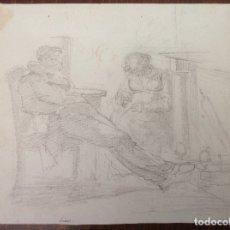 Arte: ILEGIBLE. FINALES SIGLO XVIII. ESCENA.. Lote 174446488