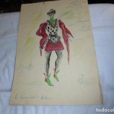 Arte: DIBUJO ORIGINAL DEL TALLER VICTOR MARIA CORTEZO PARA LA DOGARESA RUBIA-BODOERI-COMPAÑIA MERCEDES . Lote 174446823
