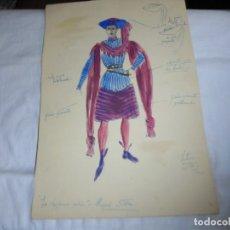 Arte: DIBUJO ORIGINAL DEL TALLER VICTOR MARIA CORTEZO PARA LA DOGARESA RUBIA.MIGUEL ST-COMPAÑIA MERCEDES . Lote 174448017
