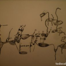 Arte: DOMÈNEC BATALLA. DIBUJO TINTA SOBRE PAPEL. 1986. 23 X 34 CM.. Lote 174499690