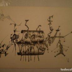 Arte: DOMÈNEC BATALLA. DIBUJO TINTA SOBRE PAPEL. 23 X 34 CM.. Lote 174499800