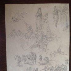 Arte: RICARDO DE VILLODAS. ESTUDIO DE PERSONAJES.. Lote 174536612