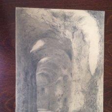 Arte: RICARDO DE VILLODAS. EDIFICIO EN RUINAS.. Lote 174852823