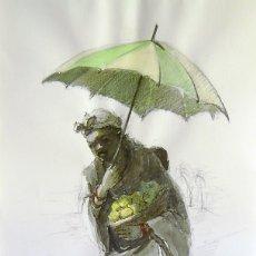 Arte: MATEO ( DIBUJO LÁPIZ-ACUARELA-TINTA CHINA ). Lote 174863682