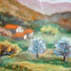 Arte: ROSER VICENTE (SANTA COLOMA DE GRAMENET, 1947) DIBUJO A PASTEL. PAISAJE. Lote 175123085