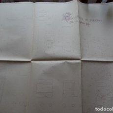 Arte: ARQUITECTURA, COPIA, CATEDRAL DE TOLEDO, PLANO INSTITUTO GEOGRÁFICO, 63 X 63 CM APROX. Lote 175349322