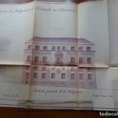 Arte: ARQUITECTURA, COPIA, PROYECTO DELEGACIÓN HACIENDA SALAMANCA, 1944. Lote 175349582
