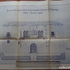 Arte: ARQUITECTURA, COPIA, CÁCERES, PALACIO MAYORALGO, 1942. Lote 175350853