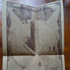 Arte: ARQUITECTURA, COPIA, CÁCERES, PLASENCIA, MONUMENTO A LOS CAÍDOS, 1939. Lote 175351760