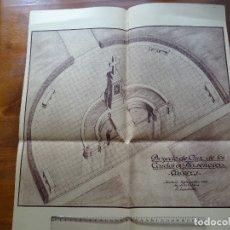 Arte: ARQUITECTURA, COPIA, CÁCERES, PLASENCIA, MONUMENTO A LOS CAÍDOS, 1939. Lote 217879498