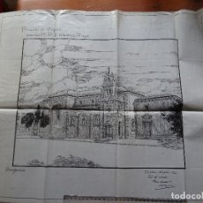 Arte: ARQUITECTURA, DIBUJO ORIGINAL CONVENTO DE LAS TRINITARIAS DE BURGOS. Lote 175352114