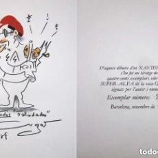 Arte: DIBUJO XAVIER CUGAT PARA API BARCELONA TIRADA NUMERADA FIRMADA 392 DE 400 NOVIEMBRE 1989. Lote 175394033