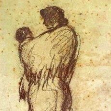 Arte: 4 RETRATOS. CARBONCILLO SOBRE PAPEL. FIRMADO NONELL. ESPAÑA. XIX-XX. Lote 175588364