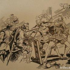 Arte: DIBUJO ORIGINAL POSIBLEMENTE MANUEL GAGO AUTOR DEL GUERRERO DEL ANTIFAZ........ Lote 175631885