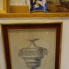 Arte: CUADRO TÉCNICA CARBONCILLO FIRMADO POR ANTONIO GARRIGOS 1832. Lote 175770258