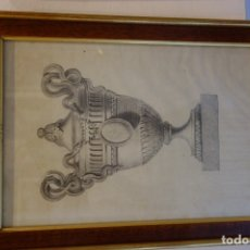 Arte: CUADRO TÉCNICA CARBONCILLO FIRMADO POR ANTONIO GARRIGOS 1832. Lote 175770342