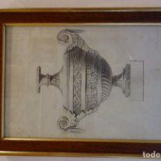 Arte: CUADRO TÉCNICA CARBONCILLO FIRMADO POR ANTONIO GARRIGOS 1832. Lote 175770395