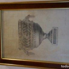 Arte: CUADRO TÉCNICA CARBONCILLO FIRMADO POR ANTONIO GARRIGOS 1832. Lote 175770432