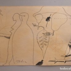 Arte: VICTOR PEDRA . BARCELONA . DIBUJO ORIGINAL . 28 X 21 CM . Lote 175800377