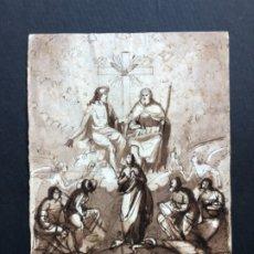 Arte: DIBUJO TINTA A PLUMA SOBRE PAPEL VERJURADO ESTILO NEOCLASICO FIRMADO CAMPENY SIGLO XVIII, 20X27 CM.. Lote 175802089