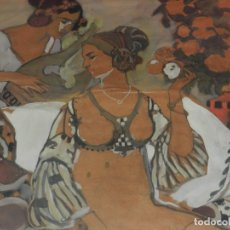 Arte: (M) JOSEP PEY I FERRIOL (1875-1956) DIBUJO PAREJA DE MUJERES MODERNISTA. Lote 176104192