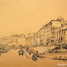 Arte: FRANCESC SERRA CASTELLET (GRANOLLERS,1912-1976) DIBUJO A TINTA. FECHADO EN ROMA DEL AÑO 1952. Lote 42287114