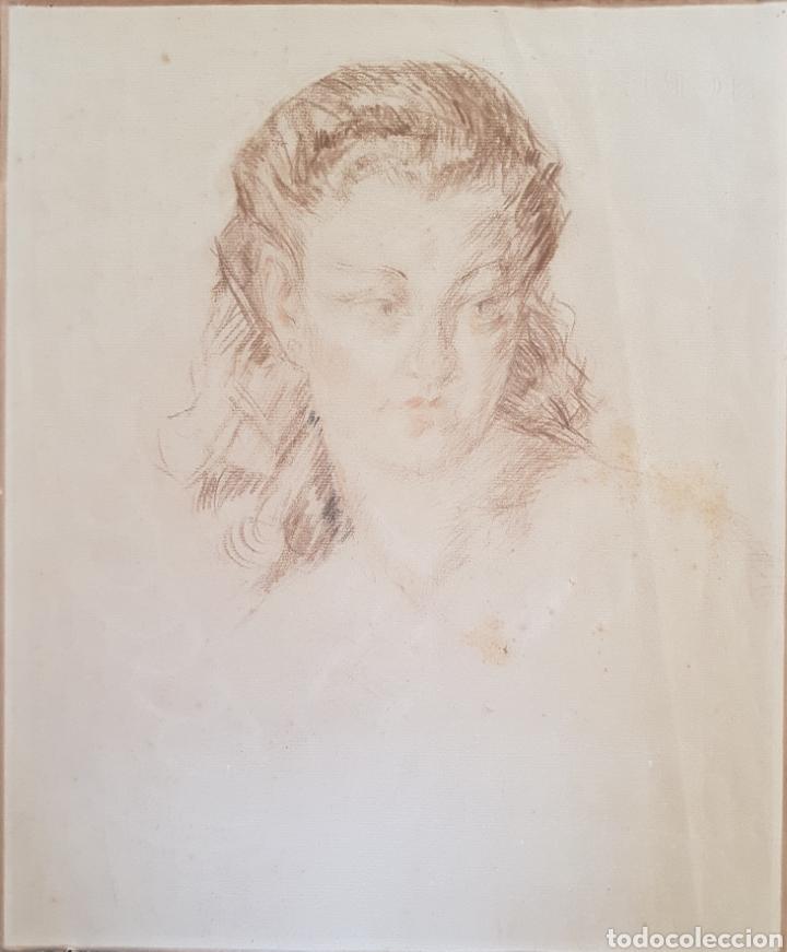 JOSEP TATARET BALASCH (1888-1966) - JOVEN.CARBONES/PAPEL.1937. (Arte - Dibujos - Modernos siglo XIX)