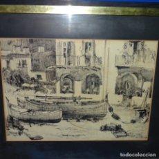 Arte: GRAN DIBUJO A TINTA CON PALILLOS DE ANTONI RIVIERE.EXCELENTE TRAZO.. Lote 176608562