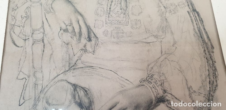 Arte: RETRATO DE MUJER. DIBUJO AL CARBÓN. FRANCESC SERRA. SIGLO XX. - Foto 7 - 176619273