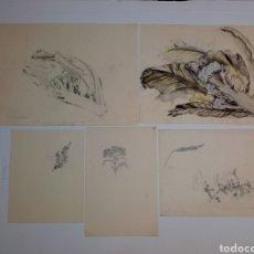 Arte: 5 BOCETOS FIRMADOS E. CHARRIER. Lote 176639213