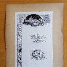 Arte: ILUSTRACIONES DE JOSEP PASSOS VALERO . RENAIXENÇA, 1714, ATLANTIDA, PATRIA. 1886. TINTA SOBRE PAPEL. Lote 176767178