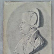 Arte: ANTIGUO DIBUJO,SIGLO XIX,EMPERADOR DE FRANCIA NAPOLEON BONAPARTE,AL CARBONCILLO,CONDECORADO. Lote 176769554